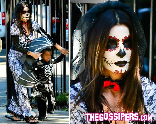 sandra2 Sandra Bullock festeggia Halloween in anticipo