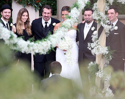 jt Justin e Jessica al matrimonio di Chris Kirkpatrick