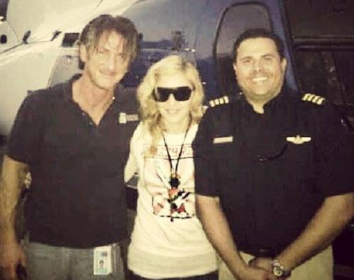 madonnasean Madonna fa visita ad Haiti con Sean Penn