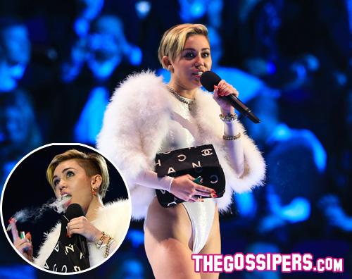 miley ema2 Miley Cyrus parla della canna fumata agli EMAs