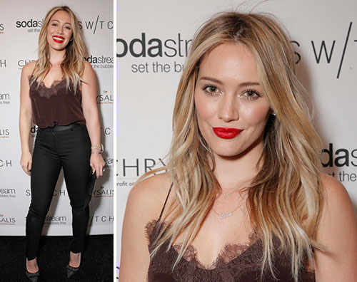 duff21 Hilary e Haylie Duff al party di Natale