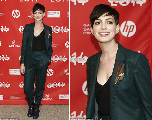 anne2 Look androgino per Anne Hathaway