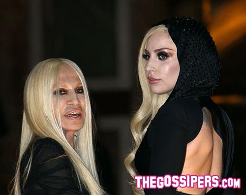 don gaga1 Lady Gaga e Donatella Versace insieme a Parigi