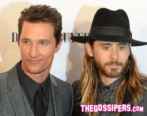 matthew jared Matthew McConaughey e Jared Leto a Londra per Dallas Buyers Club