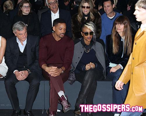 smith Will Smith alla sfilata di Dior Homme