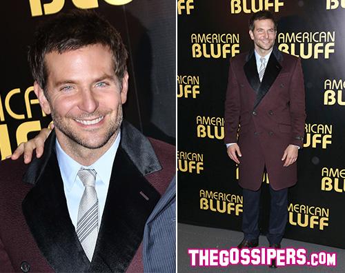 BradleyCooper Bradley Cooper a Parigi per American Hustle