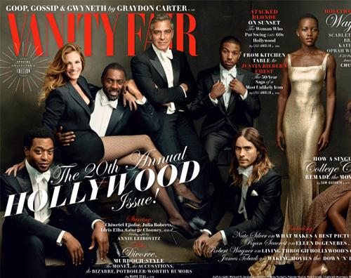 VanityFair1 Julia Roberts e gli altri protagonisti di Vanity Fair Hollywood Issue