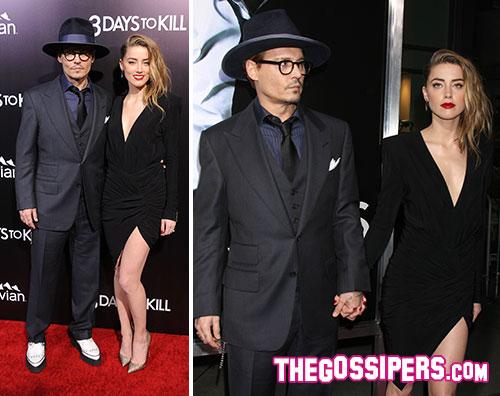 amber depp2 Johnny Depp e Amber Heard insieme sul tappeto rosso