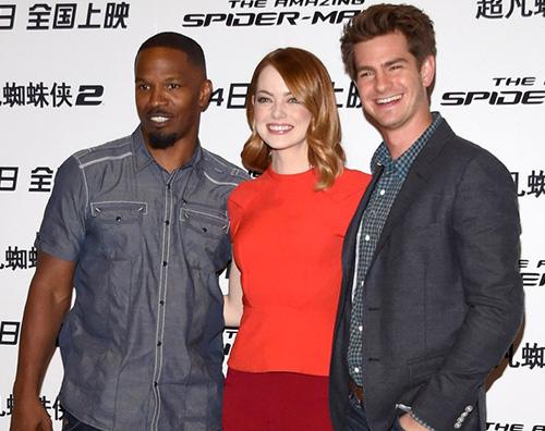 EmmaStone Andrew Il cast di The Amazing Spiderman in Cina