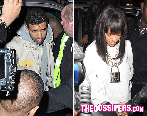 rihanna.drake  Rihanna e Drake insieme al Cirque le Soir