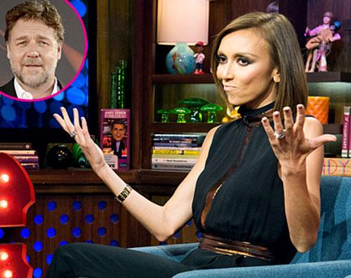 russell Giuliana Rancic: E Russell Crowe la star meno simpatica