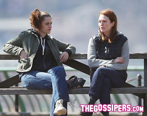 stewart moore Kristen Stewart e Julianne Moore sul set di Still Alice