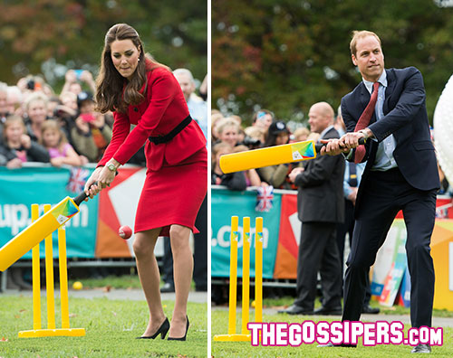 kate 2 William e Kate si danno al cricket in Nuova Zelanda