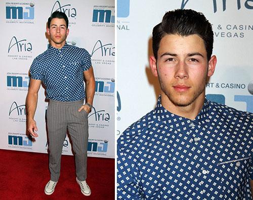 nickjonas Nick Jonas tutto muscoli a Las Vegas