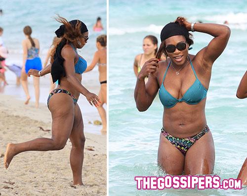 prova costume serena 2 Prova costume per la giunonica Serena Williams