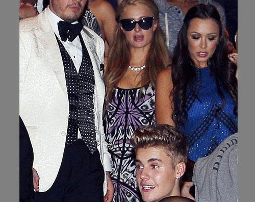 bieber hilton Paris Hilton si diverte con Justin Bieber a Cannes