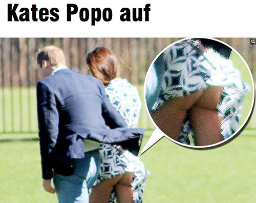 bild kate Il Bild mostra il lato B di Kate Middleton