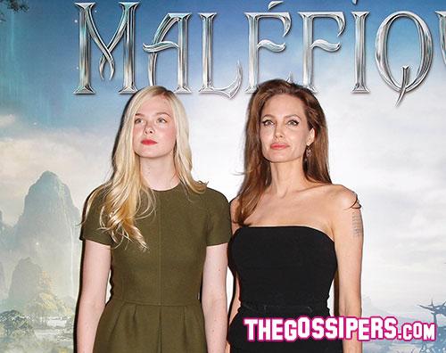 male1 Angelina Jolie e Elle Fanning a Parigi per Maleficient