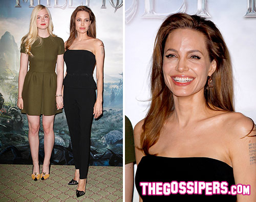 male2 Angelina Jolie e Elle Fanning a Parigi per Maleficient
