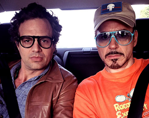 ruffalo downey1 Mark Ruffalo passa il Memorial Day con Robert Downey Jr.