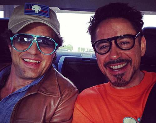 ruffalo downey2 Mark Ruffalo passa il Memorial Day con Robert Downey Jr.