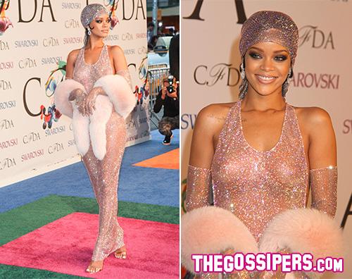Cover2 Le trasparenze di Rihanna protagoniste dei CFDA 2014