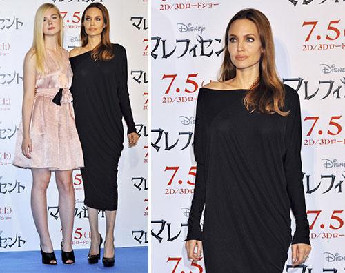 ange2 Angeline Jolie ed Elle Fanning insieme a Tokyo
