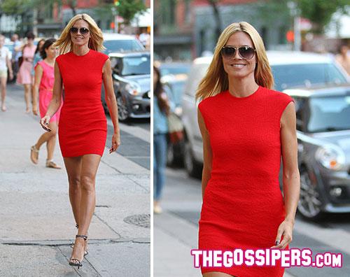 klumkikapress Recovered Heidi Klum in strada come in passerella