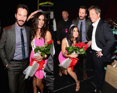 sandra2 Sandra Bullock incontra i suoi uomini ai Guys Choice Awards