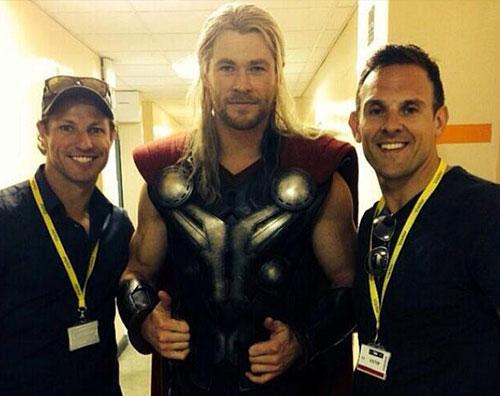 thor Chris Hemsworth al lavoro per gli Avengers