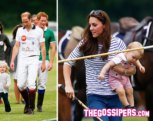 william.kate  Kate Middleton sportiva con George e William