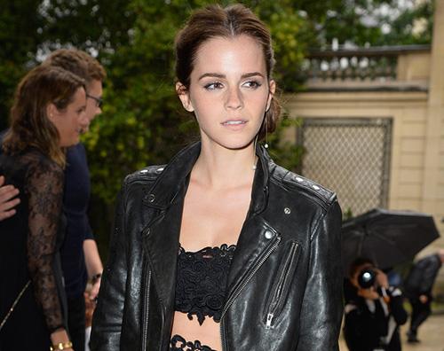 cemma Emma Watson alla sfilata di Valentino