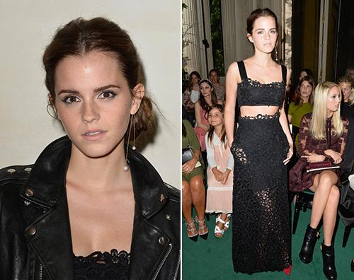 coveremmawatson Emma Watson alla sfilata di Valentino