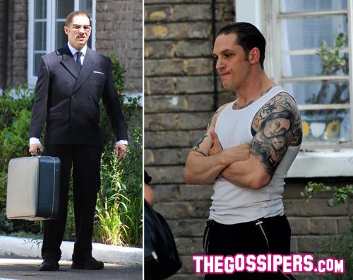 hardy2 Tom Hardy è un trasformista sul set di Legend