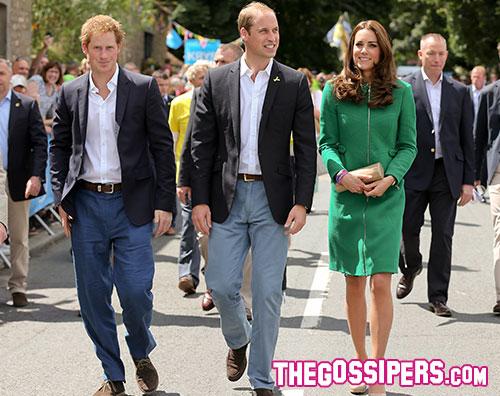 katewillhen Kate, William e Harry per il Tour de France
