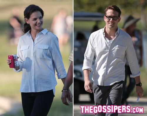 katie ryan2 Katie Holmes e Ryan Reynolds sono una famiglia felice