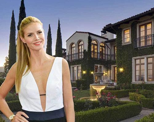 klum Heidi Klum mette in vendita la sua villa a Brentwood