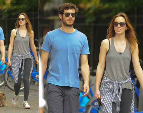 leighton adam Passeggiata a New York per Adam e Leighton