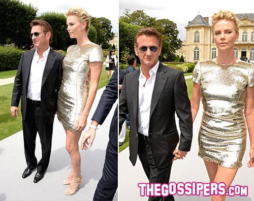 seancharlize2 Charlize e Sean a Parigi per la sfilata di Dior