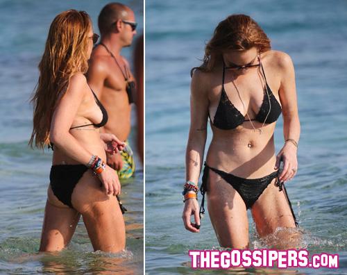 lohan2 Lindsay Lohan, prova costume a Mykonos