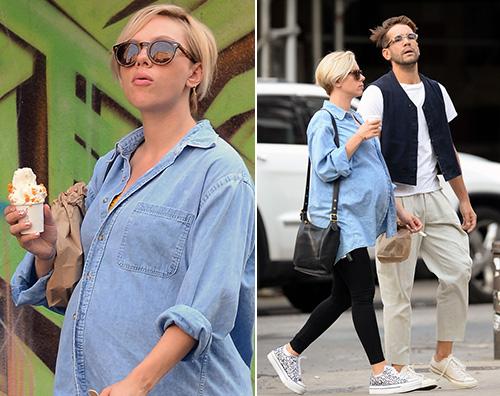 scarlett Scarlett Johansson, passeggiata a New York