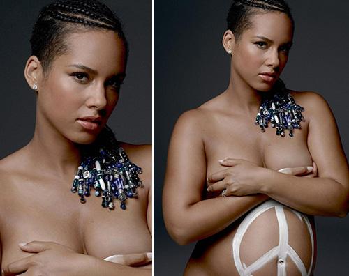 AliciaKeys Alicia Keys nuda per una buona causa