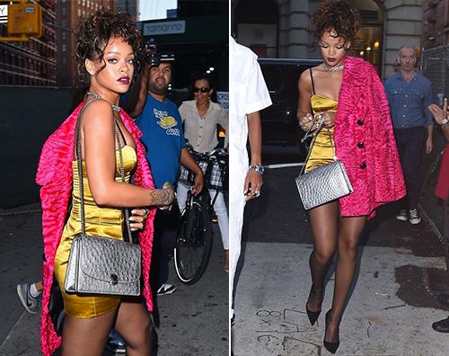 Rihanna Il look discreto di Rihanna a New York
