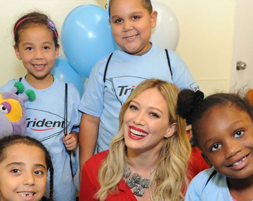 duff2 Hilary Duff per ligiene dentale dei bambini