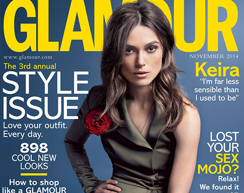 Cover1 Keira Knightley protagonista di Glamour
