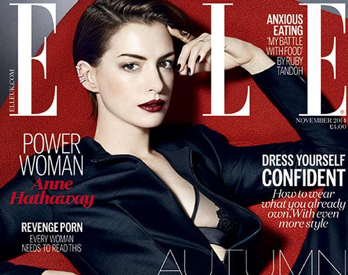 Elle Anne Hathaway parla della celebrità su Elle UK