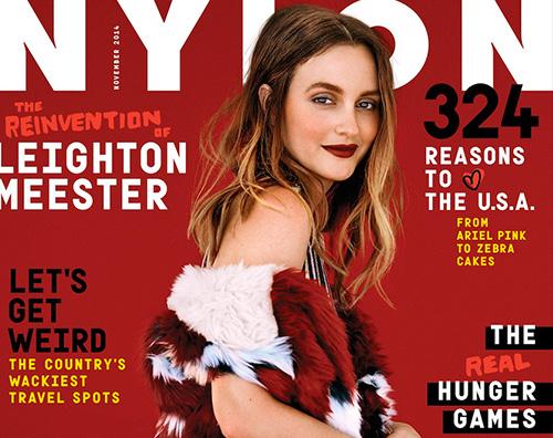Leighton Cover Leighton Meester su Nylon Magazine di novembre
