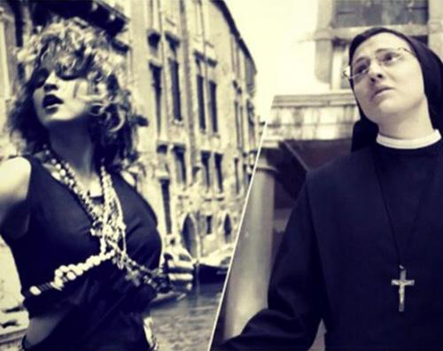 Madonna Suor Cristina Madonna polemizza su Twitter contro Suor Cristina