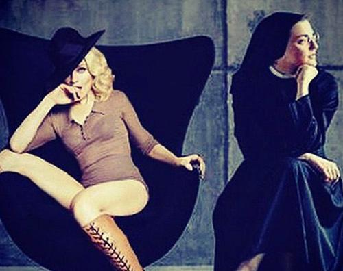 Madonna Madonna polemizza su Twitter contro Suor Cristina