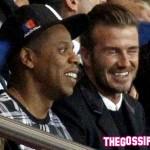 jayZ beckham 150x150 Beyoncè, Jay Z e David Beckham allo stadio di Parigi